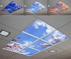 Create the feeling of space with skylights.